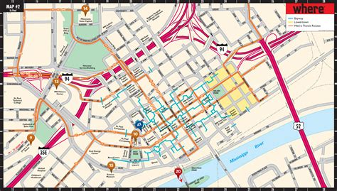 map of minneapolis paul map minneapolis map