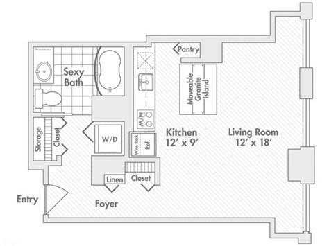 chicago apartment floor plans studio floor plan of property randolph tower city