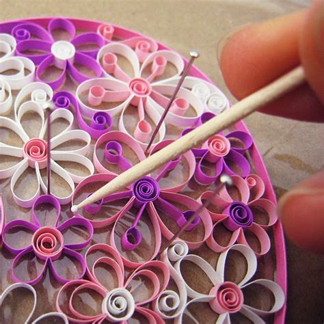 flower pattern for quilling quilling flowers pdf pattern tutorial