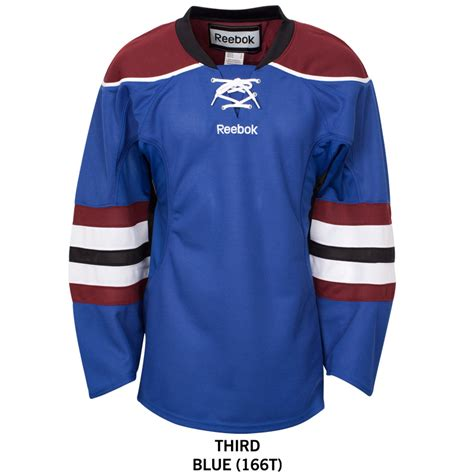 colorado avalanche reebok edge gamewear uncrested adult
