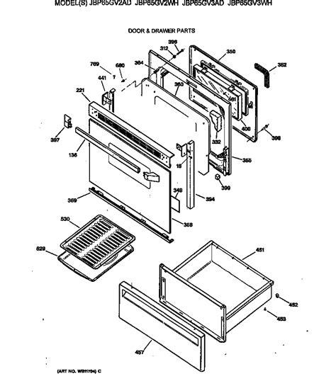 ge electric range parts diagram general electric jbp65gv2ad electric range timer stove