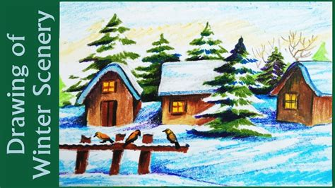 scenery christmas drawings festival collections