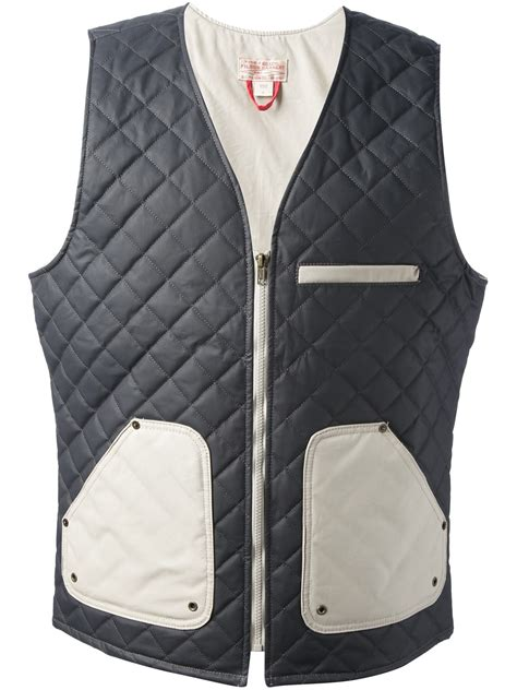 Quilted Vest For by Filson Quilted Vest In Blue For Lyst