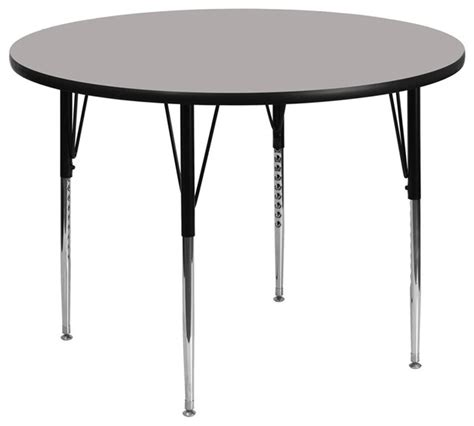 48 Inch Folding Table Flash Furniture 48 Inch Activity Table With Grey Laminate Top Traditional Folding