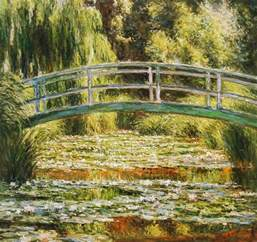 monet s japanese footbridge over the water lily pond in