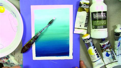 acrylic paint blending how to paint a line with acrylics using artist