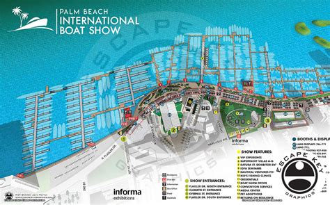 palm beach boat show 2018 vendors custom illustration and illustrated maps by escape key