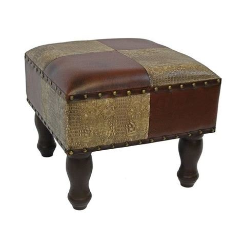 fake leather ottoman faux leather ottoman in mix pattern ywlf 2529 mx