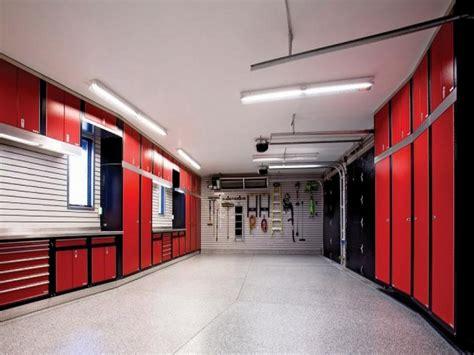 black ceiling red walls garage cabinet design ideas