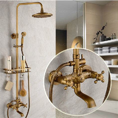 vintage bathroom shower ideas vintage brass bathroom outdoor shower faucets with shelves