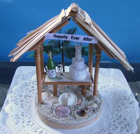 Tiki Hut Topper Tiki Hut Wedding Cake Topper Wedding By Ceshoretreasures