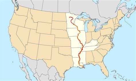 map of usa mississippi the great river road touring along the mississippi river