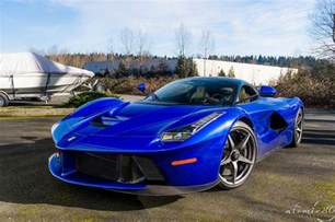 Laferrari Blue Stunning Blue Laferrari In Washington Gtspirit