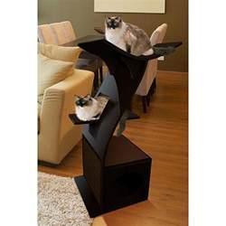 The Refined Feline Lotus Tower Cat Tree In Espresso The Refined Feline Lotus Cat Condo Tower Free