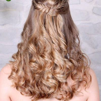Lange Haare Halboffen by Friseursalon A Tino Hauser Abschlussball