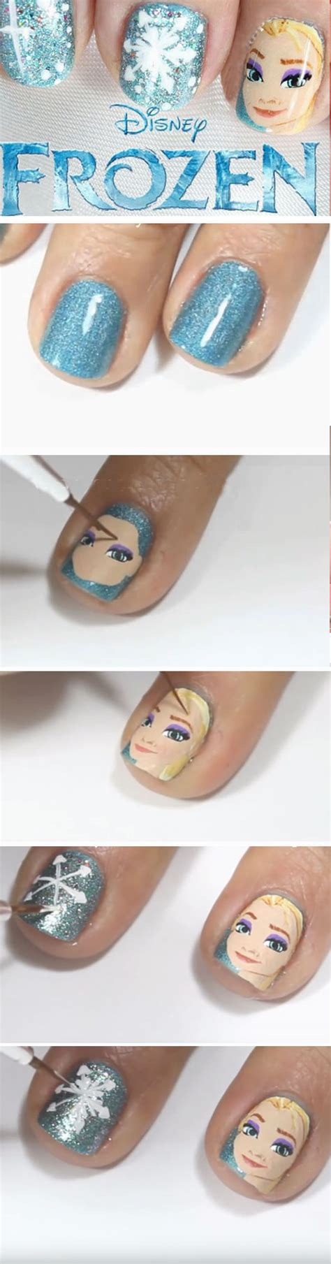 tutorial nail art frozen 20 diy christmas nail art ideas for short nails snowman