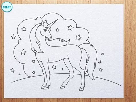 how to draw a doodle unicorn how to draw unicorn drawing lessons for
