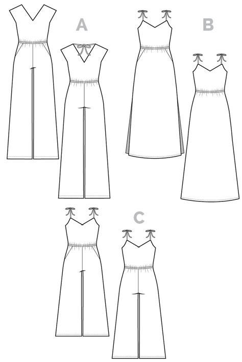 jumpsuit template sallie jumpsuit maxi dress pattern closet patterns