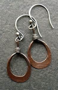 Handmade Copper Earrings - 17 best ideas about copper earrings 2017 on