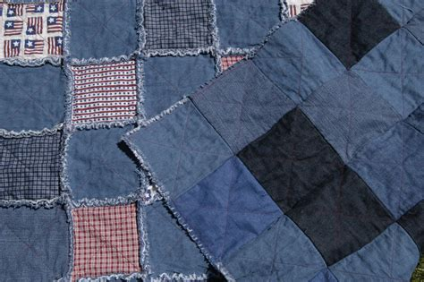Denim Rag Quilt Pattern by Jenuinetreasures Patriotic Denim Rag Quilt