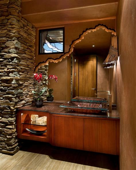 unique and exotic stone wall bathroom by arkiden124 20 bathroom mirror designs decorating ideas design