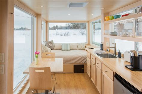 home inside a tiny trailer home like no other adorable home