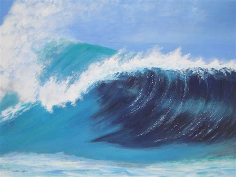 acrylic painting waves wave original acrylic 18 quot x 24 quot paintings by