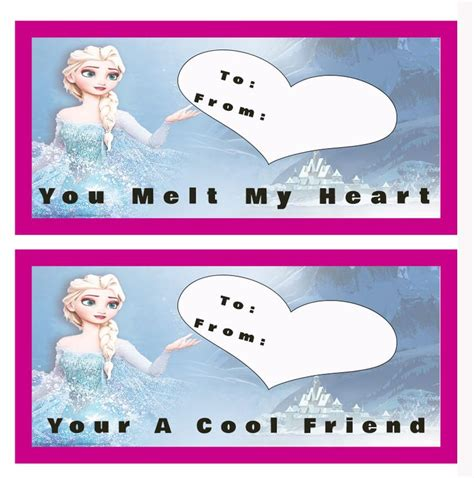printable frozen valentines 379 best all things red day class valentines images on