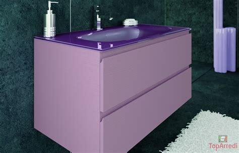 mobile vetro bagno moderno sospeso aron
