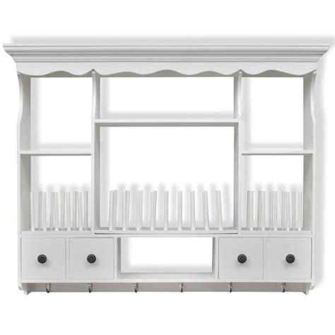 kitchen wall dresser unit kitchen unit white shelf hanging plates rack wooden