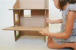 Cardboard Dolls House Furniture Templates by Diy Recycled Cardboard Dollhouse Doll House