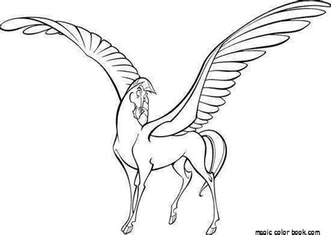 coloring pages of horses with wings pegasus unicorn coloring pages free