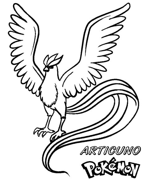 Articuno Coloring Pages coloring books articuno to print and free