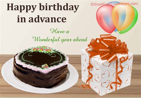 Advance Happy Birthday Wishes In Advance Birthday Wishes Happy Birthday In Advance