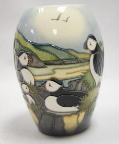 Moorcroft Puffin Vase by Stunning Moorcroft Quot Puffins 102 5 Vase Quot Made In