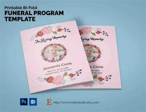bi fold memorial card template pages printable bi fold funeral program template obituary template