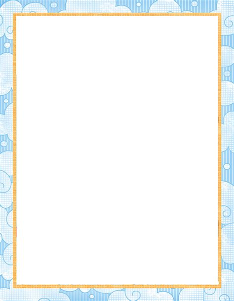 Printable Baby Stationery | printable paper with baby borders free printable baby