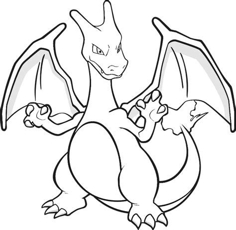 coloriage pokemon dracaufeu