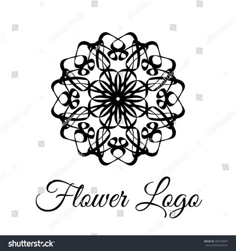 lace pattern logo lace classic calligraphy copperplate circle flower logo