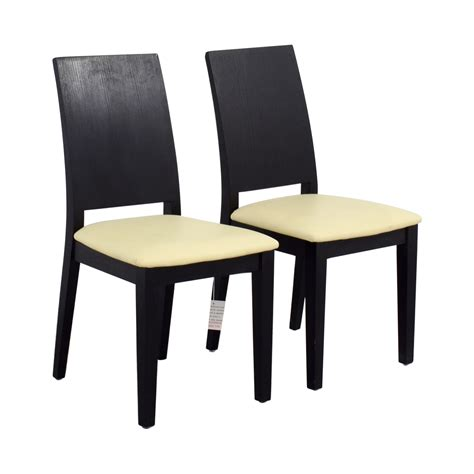 Black White Dining Chairs 85 Black Frame With White Seat Dining Chairs Chairs