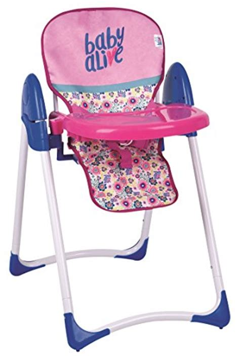 baby alive high chair cupcake baby alive doll deluxe high chair import it all