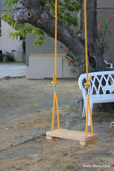 homemade rope swing rope swing lowescreator oh you crafty huh pinterest