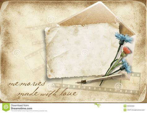 Background Papers For Card - vintage paper background with card and cornflo stock