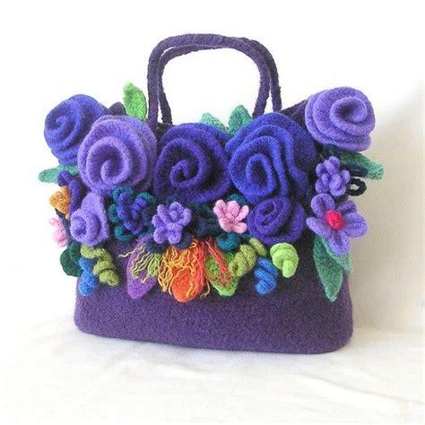 felt pattern tutorial how to make crochet felted flower bag pattern tutorial