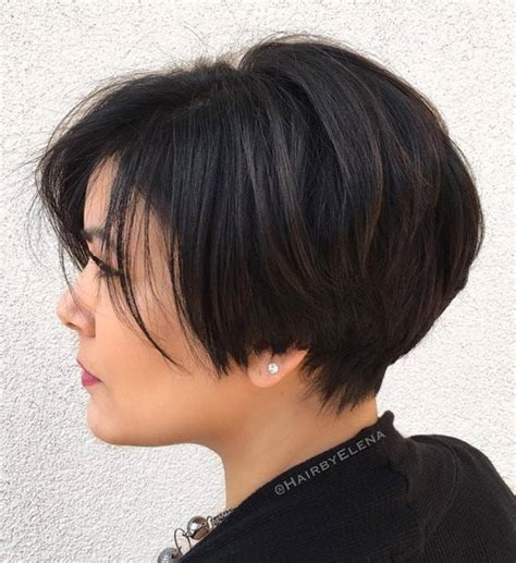 short bob haircut above the ear 60 classy short haircuts and hairstyles for thick hair