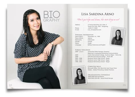 kurniawan s portfolio cv magazine design