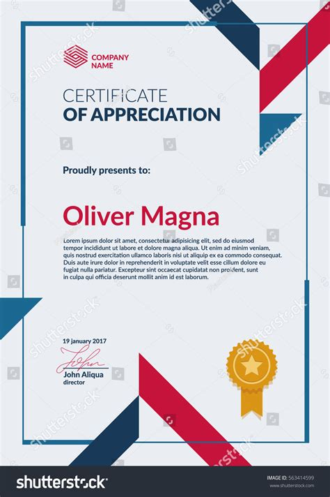 cool certificate templates certificate appreciation template cool geometric design
