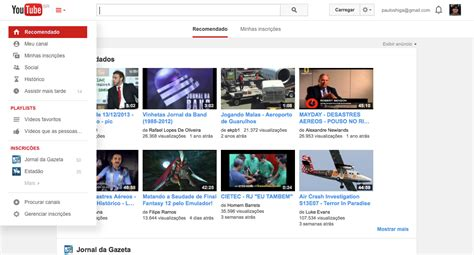 novo layout do youtube 2015 youtube libera novo visual para todos os usu 225 rios tecnoblog