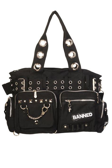 Unique Fashion Chain Shoulder Bag Import rkn59 banned handcuff rock canvas shoudler