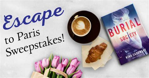 Paris Sweepstakes - random house books escape to paris sweepstakes familysavings